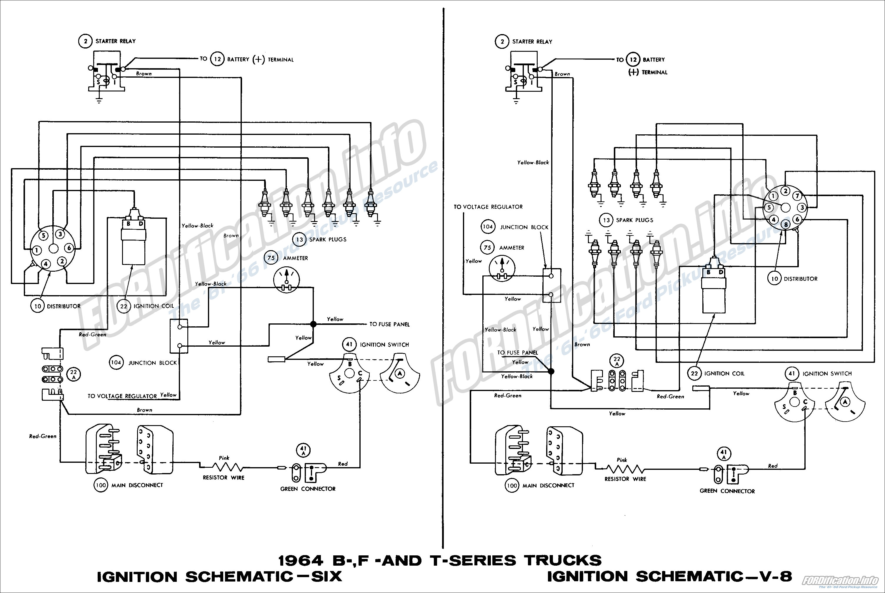 1965 Mustang Marker Light Wiring Diagram 1964 Ford Truck Wiring Diagrams Fordification Info The
