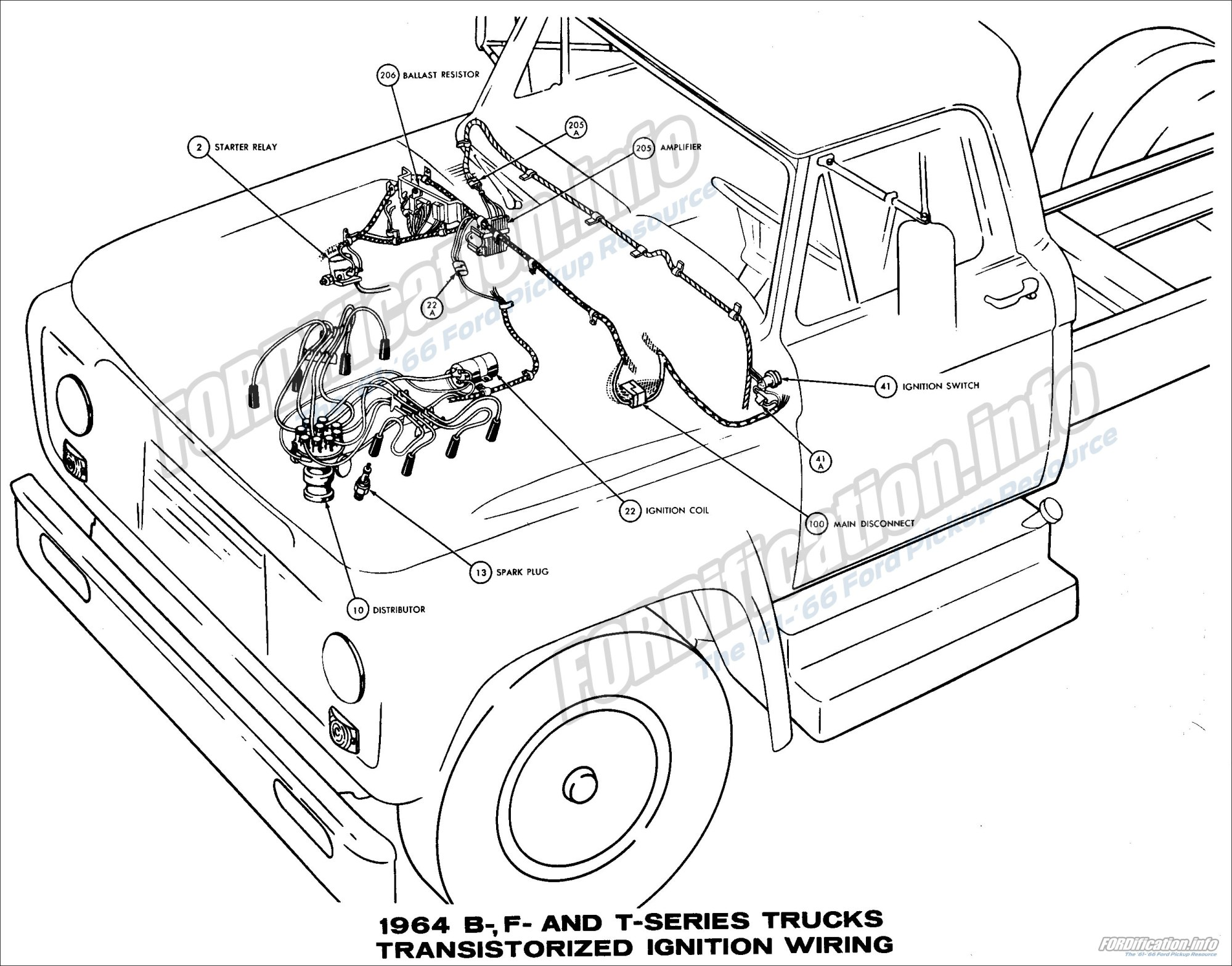 hight resolution of 1964 ford truck wiring diagrams fordification info the u002761 u0027661964 b f and