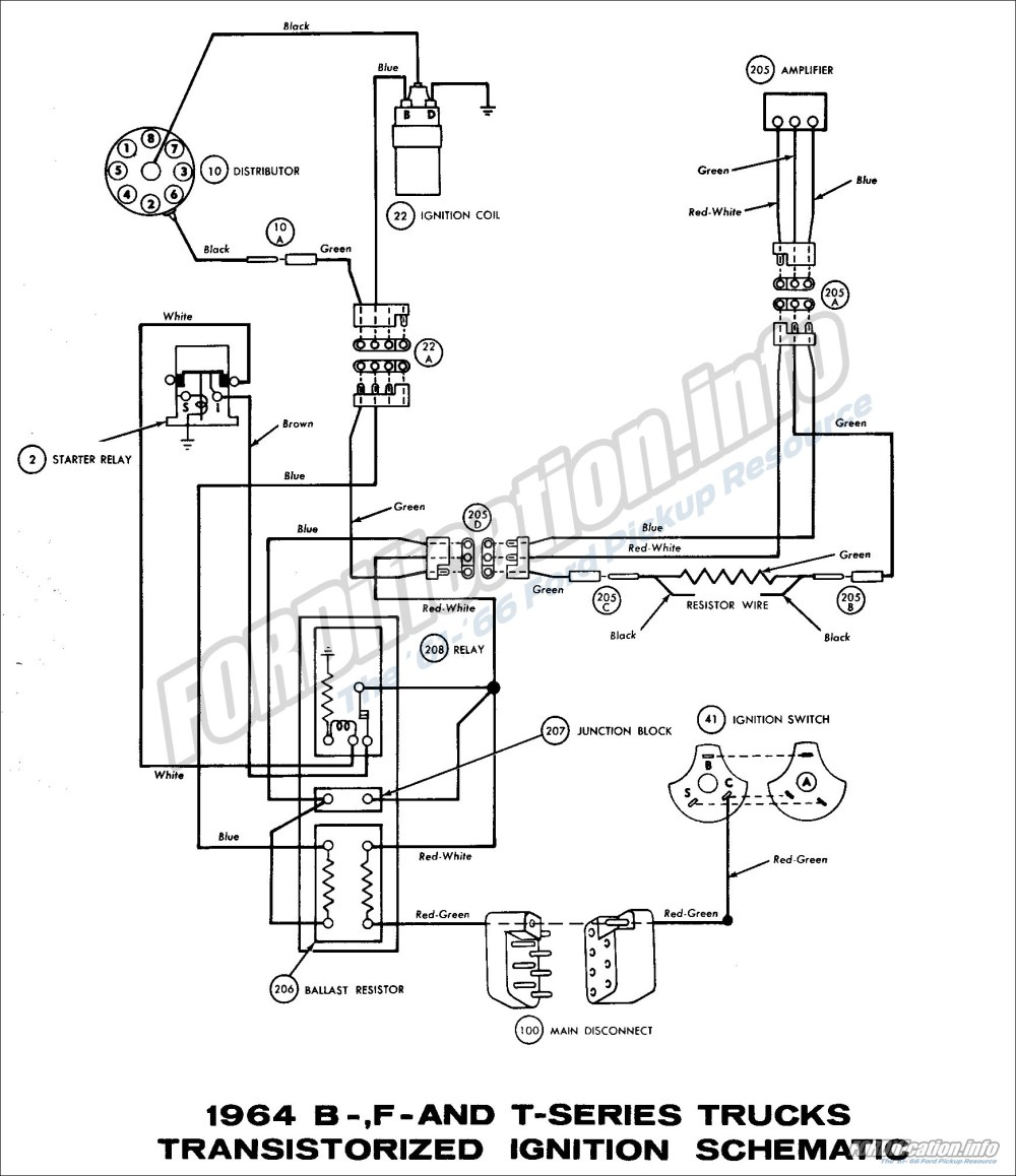 medium resolution of 1964 b f and t series trucks transistorized ignition schematic