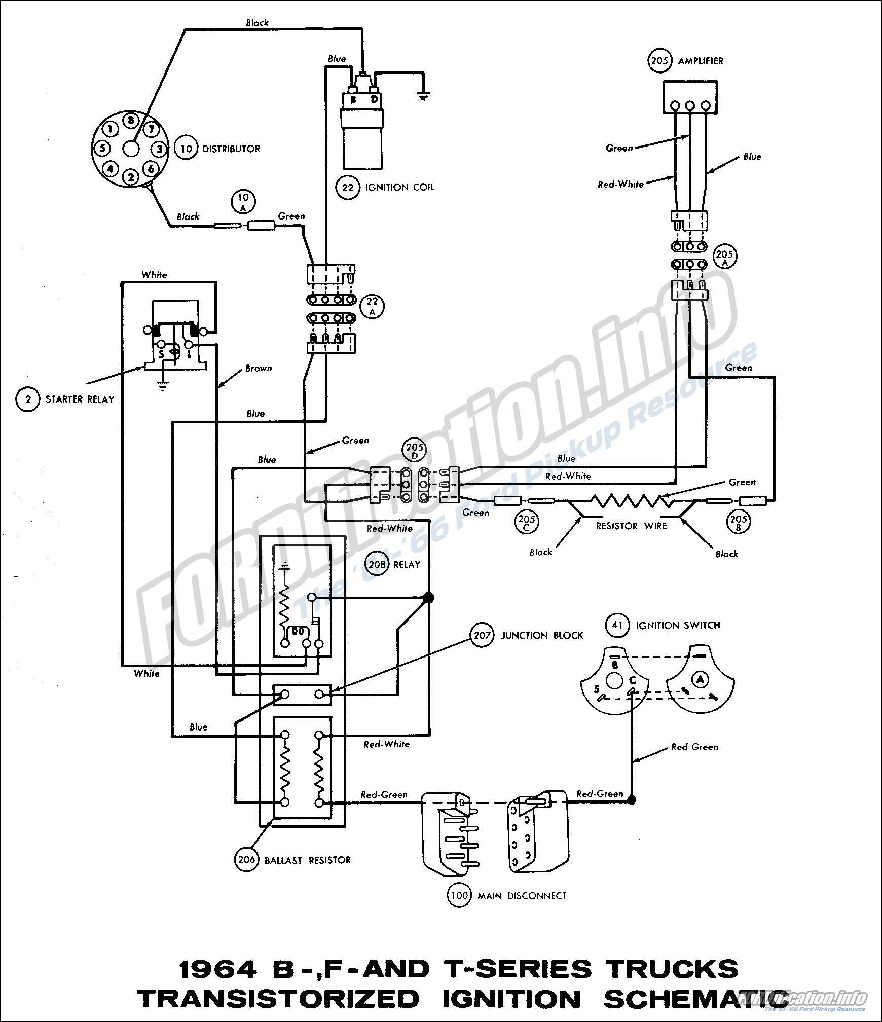 hight resolution of 1964 b f and t series trucks transistorized ignition schematic