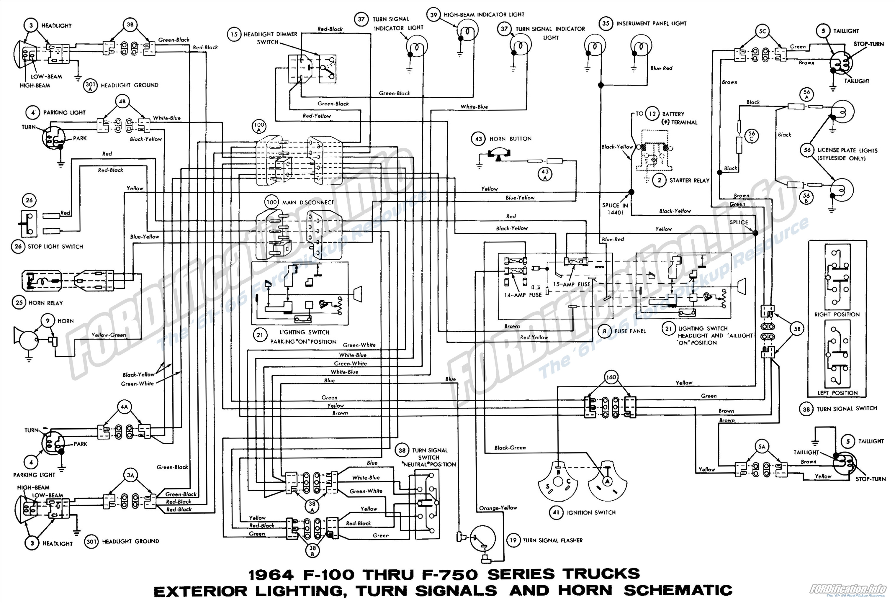 Wiring Diagram On 1964 Ford Turn Signal Switch Wiring