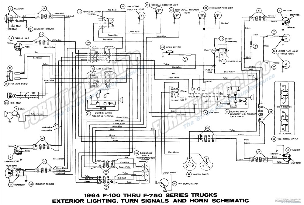 medium resolution of 1964 ford truck wiring diagrams fordification info the 61 66 1964 f100 thru f750