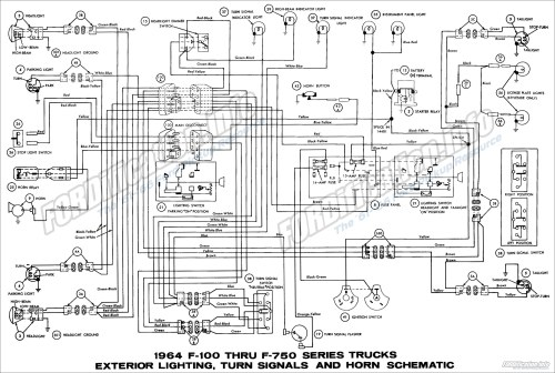small resolution of 1964 ford truck wiring diagrams fordification info the 61 66 1964 f100 thru f750