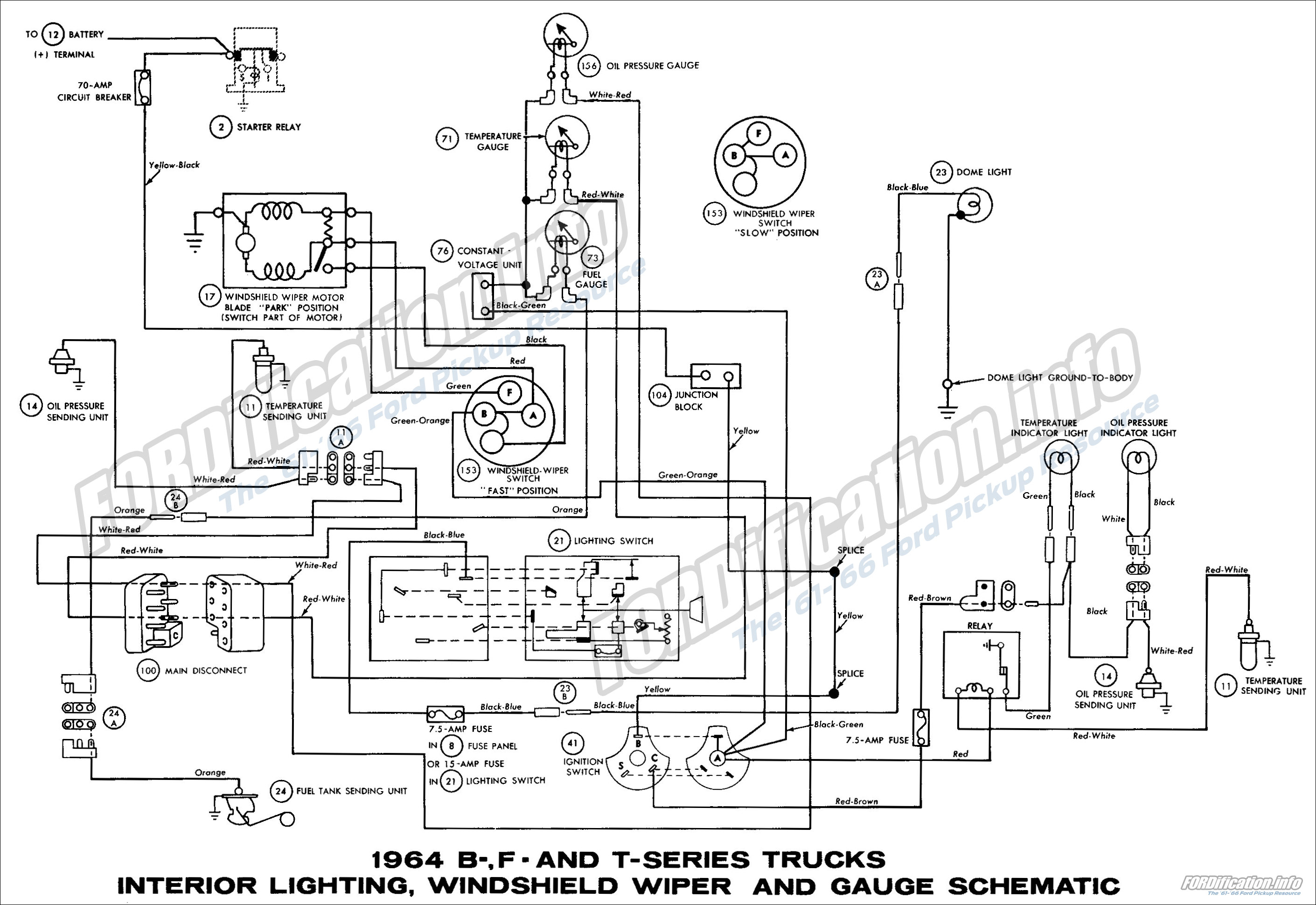 1964 ford ignition switch diagram international 4700 wiring truck diagrams fordification info the