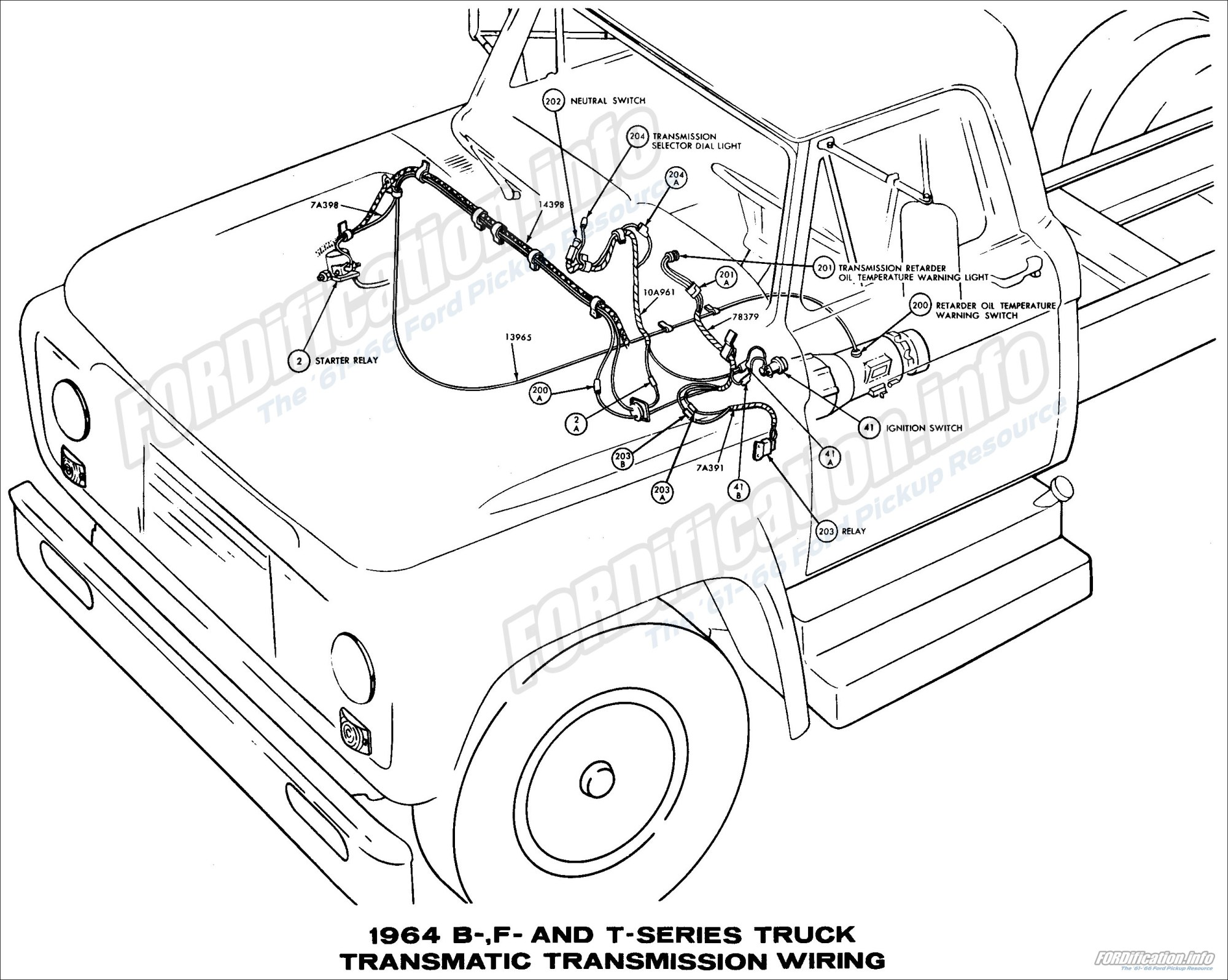 hight resolution of 1964 ford truck wiring diagrams fordification info the 61 66 ford pickup resource