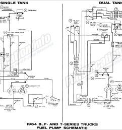 ford b f tseries trucks 1964 fuel pump schematic diagram all 1964 ford truck wiring diagrams fordification [ 3019 x 2011 Pixel ]