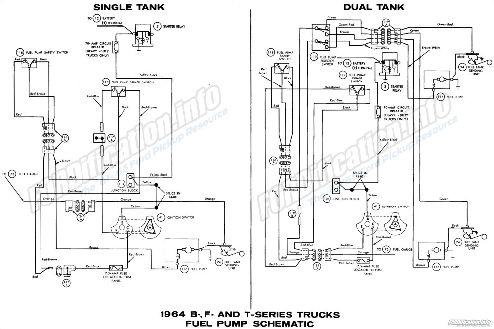 medium resolution of ford b f tseries trucks 1964 fuel pump schematic diagram all 1964 ford truck wiring diagrams fordification