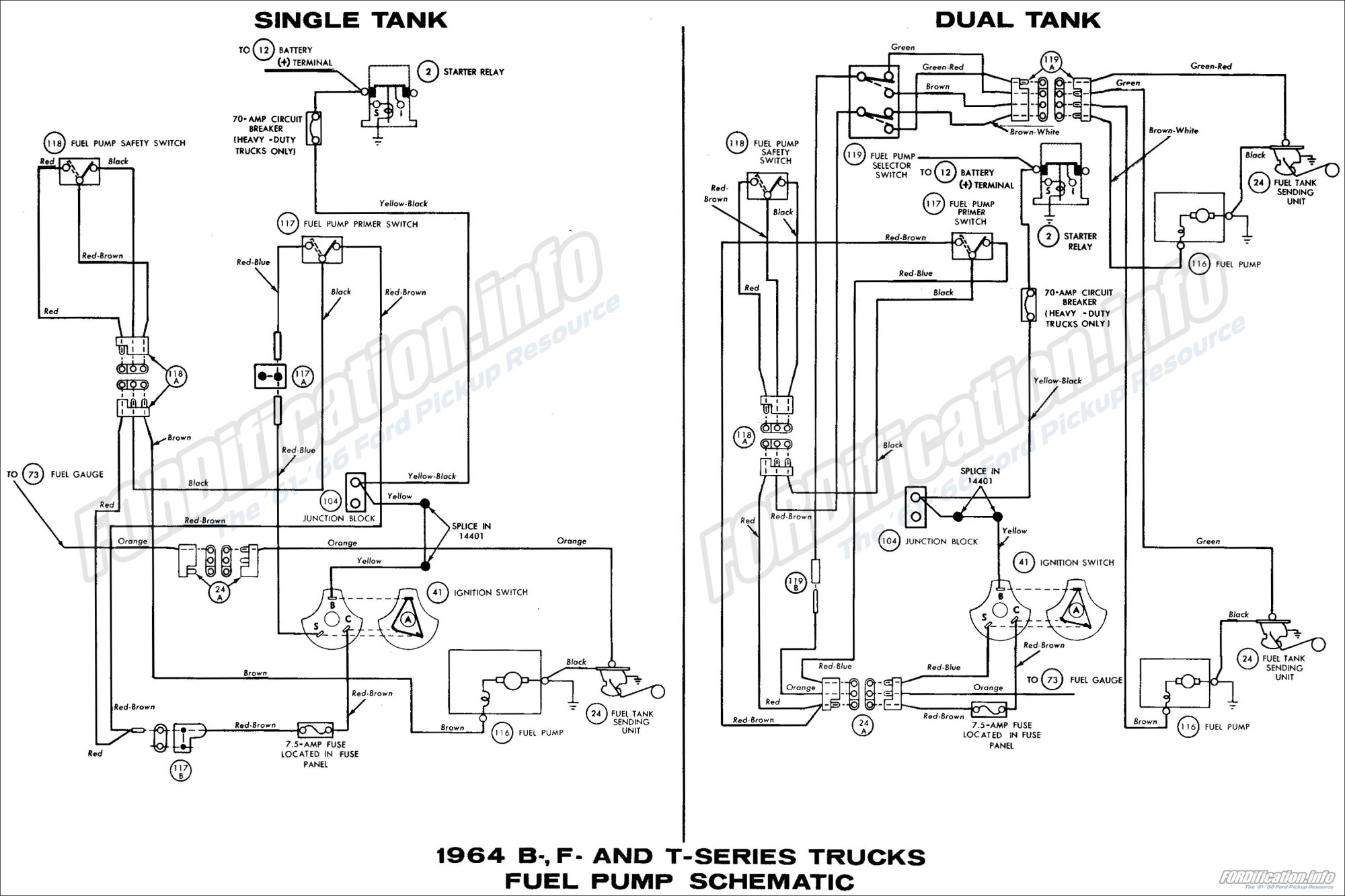 hight resolution of ford b f tseries trucks 1964 fuel pump schematic diagram all 1964 ford truck wiring diagrams fordification