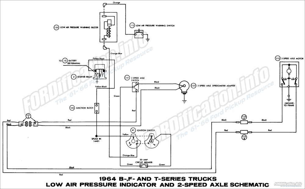 medium resolution of 1964 ford truck wiring diagrams fordification info the 61 66 transmatic transmission schematic diagram of 1964 ford b f and t series trucks part 1
