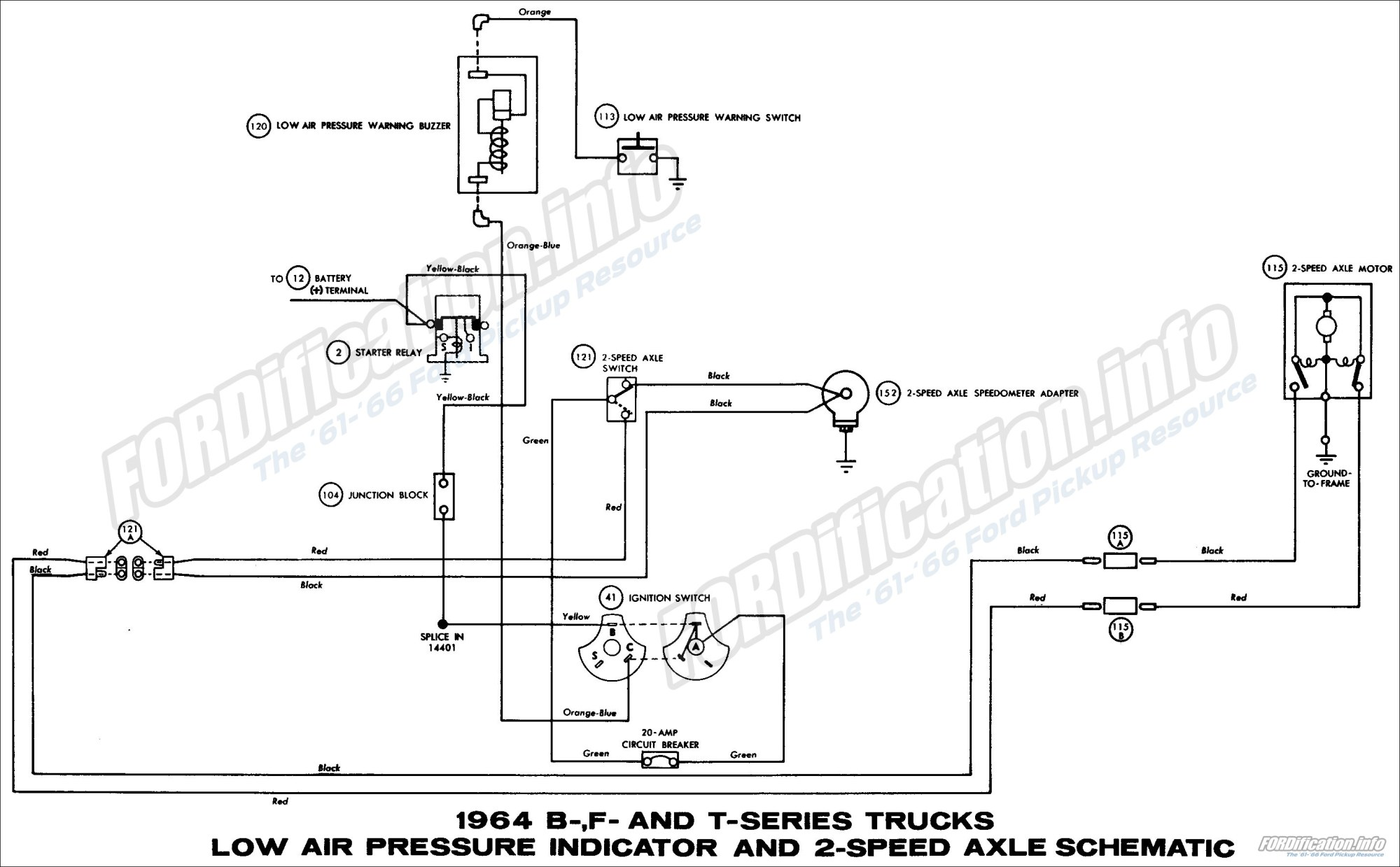 hight resolution of 1964 ford truck wiring diagrams fordification info the 61 66 transmatic transmission schematic diagram of 1964 ford b f and t series trucks part 1