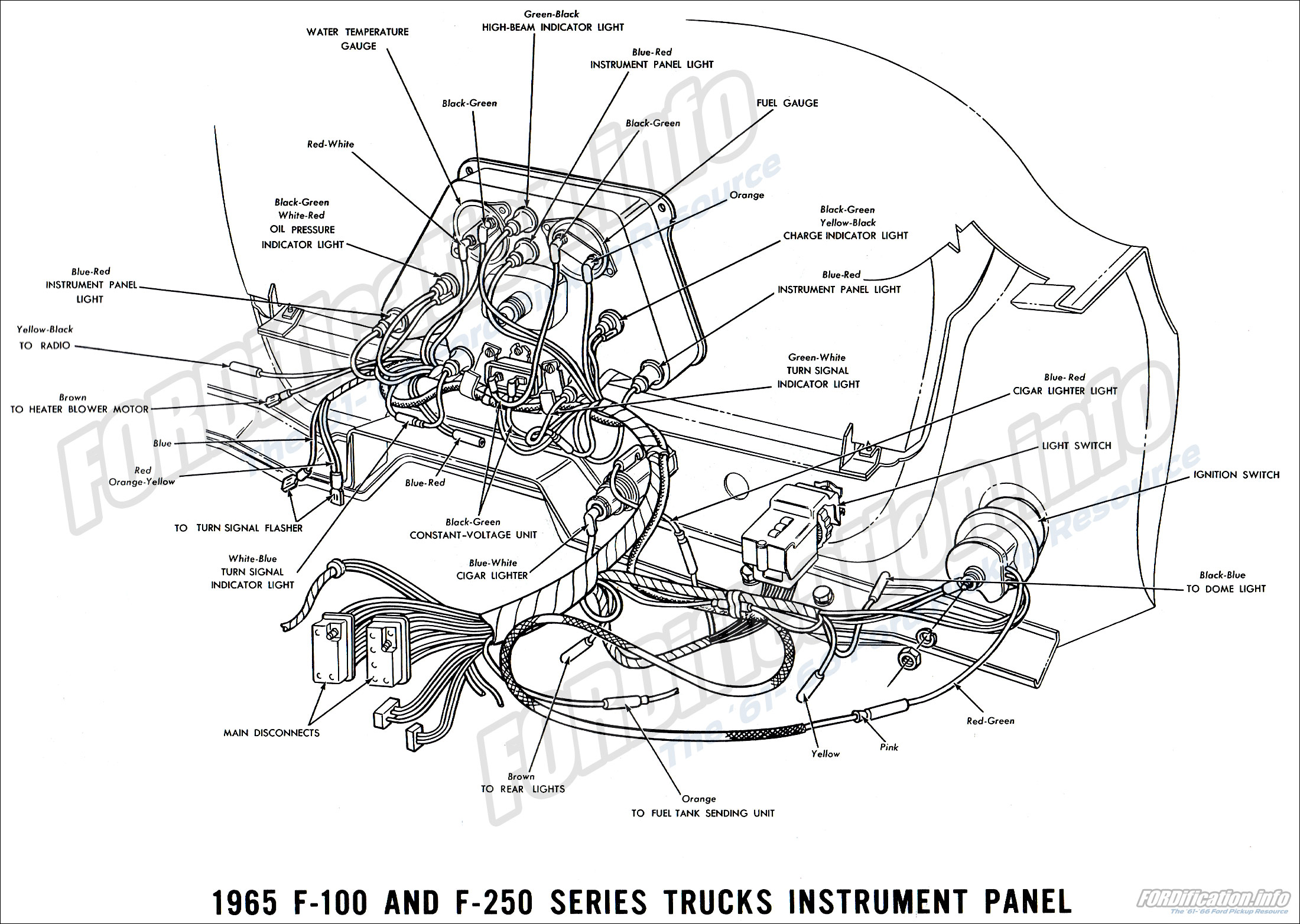 1965 Ford F100 Dash Wiring Diagram : 34 Wiring Diagram