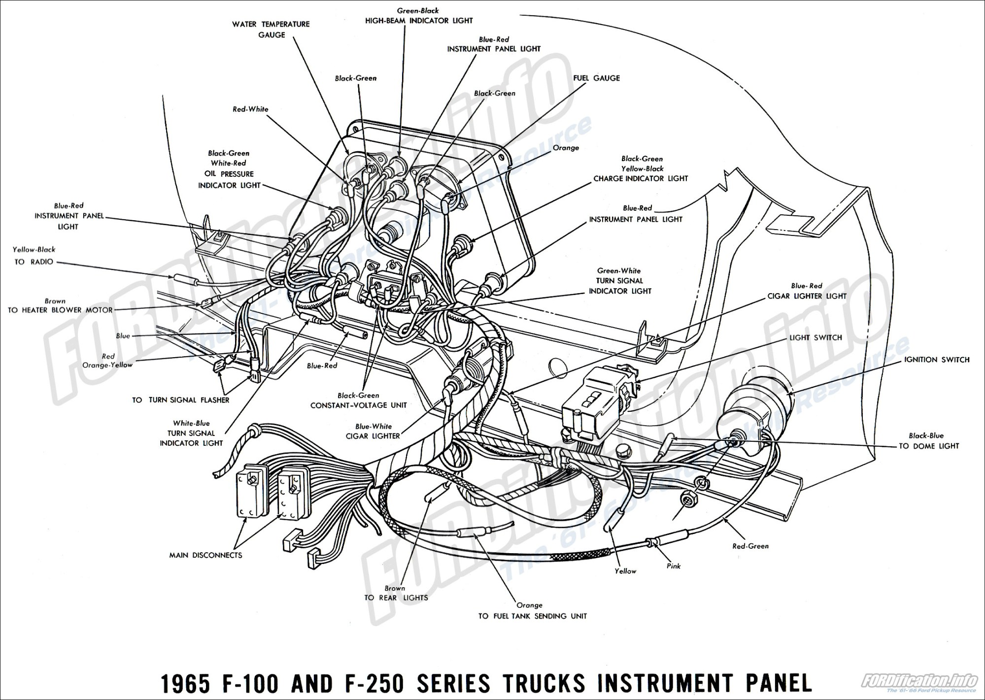 hight resolution of 1965 ford truck wiring diagrams fordification info the 61 66 65 ford f100 wiring diagram