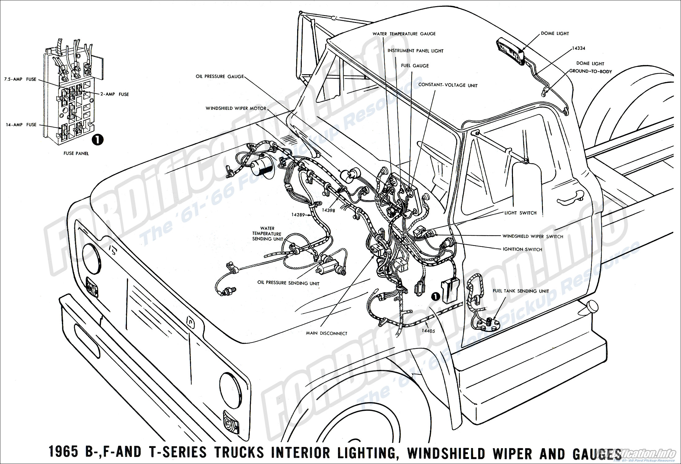 1965 Mustang Marker Light Wiring Diagram 1965 Ford Truck Wiring Diagrams Fordification Info The