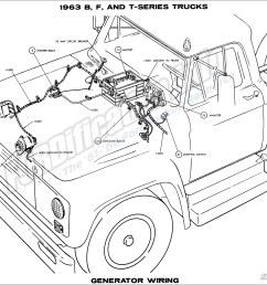 1963 b f and t series trucks generator wiring [ 1900 x 1507 Pixel ]