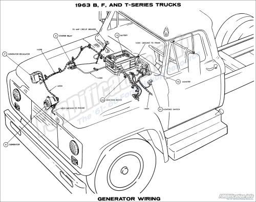 small resolution of 1963 b f and t series trucks generator wiring