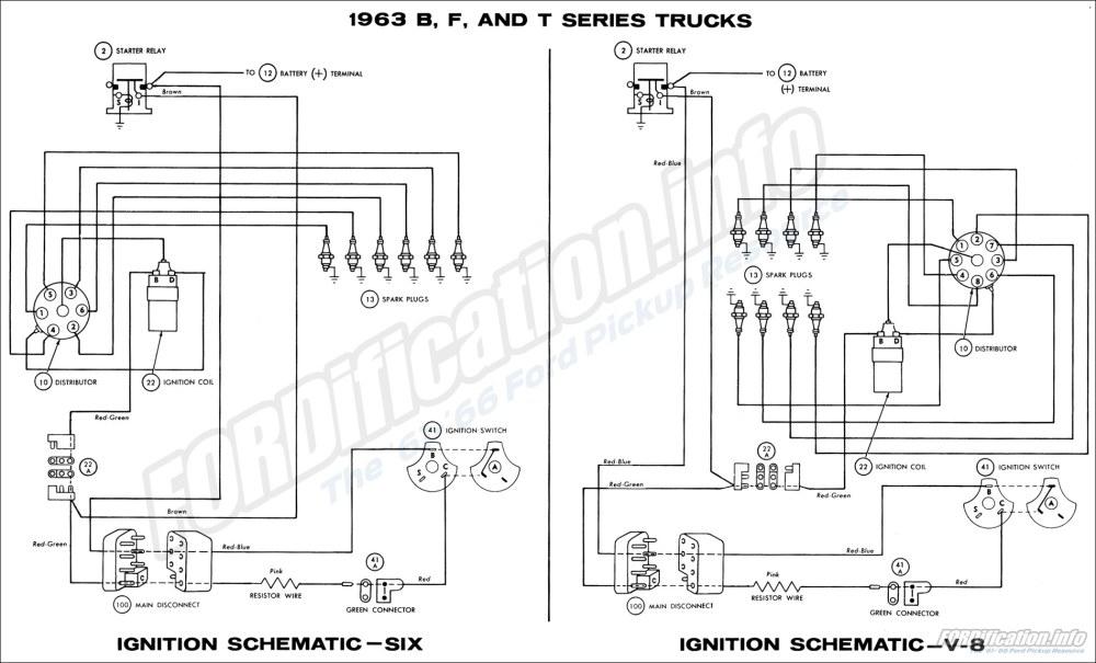 medium resolution of 1963 b f and t series trucks ignition schematics six and v8