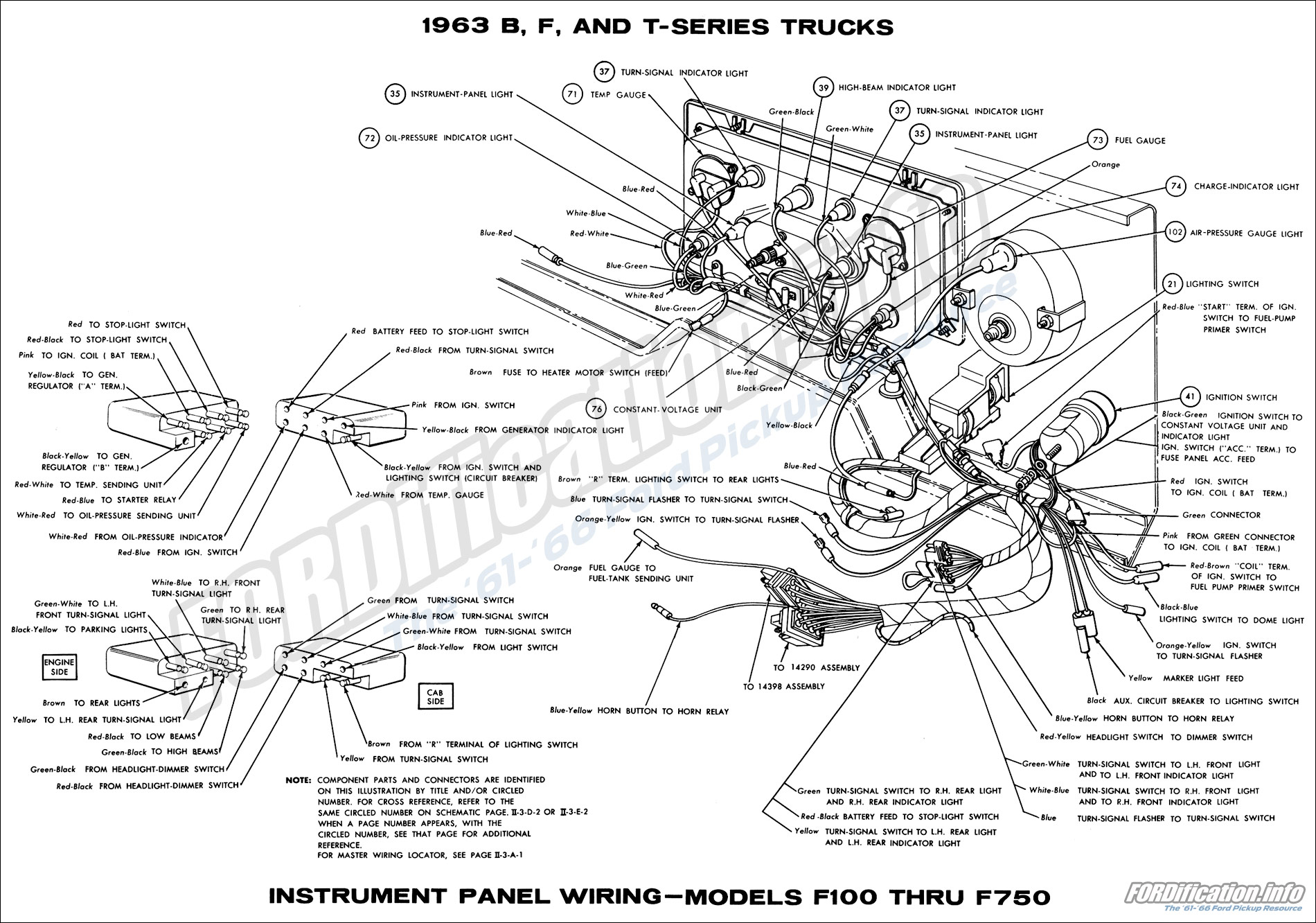 ford wiring diagram door bell 1961 1963 f 100
