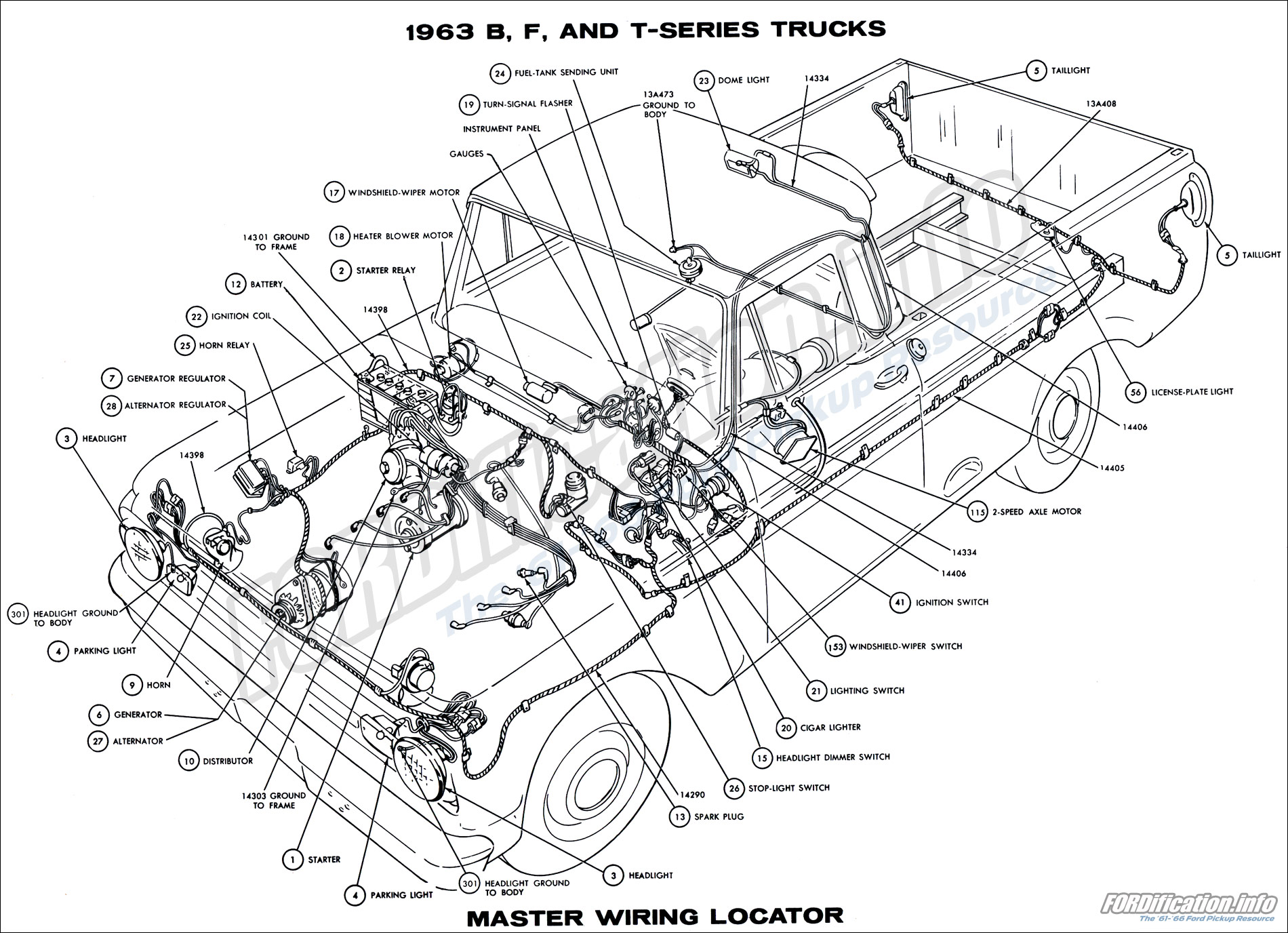 hight resolution of 1962 ford truck wiring diagram online schematics diagram rh delvato co 1963 ford 1964 ford fairlane