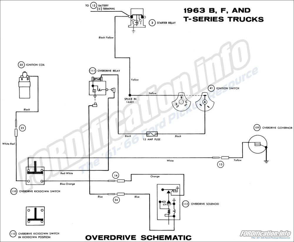 medium resolution of 1963 ford truck wiring diagrams fordification info the 61 66 rh fordification info 1950 ford overdrive