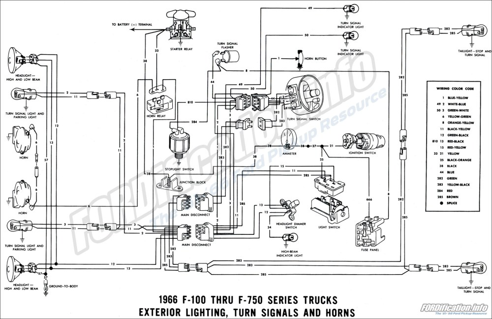 medium resolution of 1966 ford truck wiring diagrams fordification info the 61 66 1966 exterior lighting