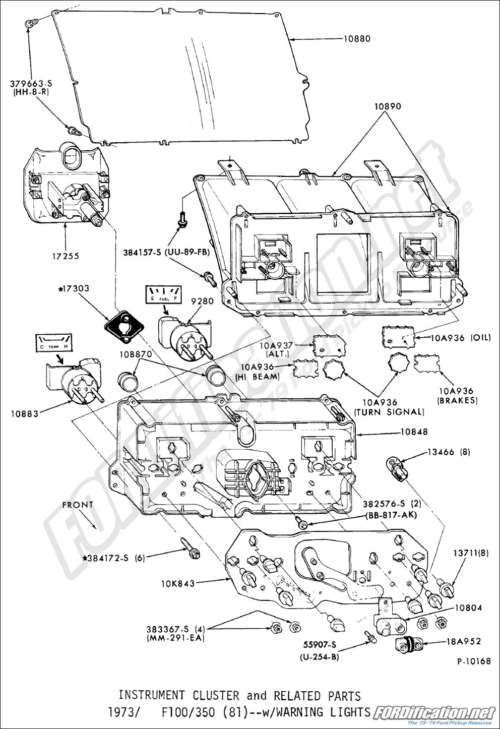 78 Chevy Truck Dash Wiring Diagram Ford Truck Part Numbers Instrument Panel Fordification Net