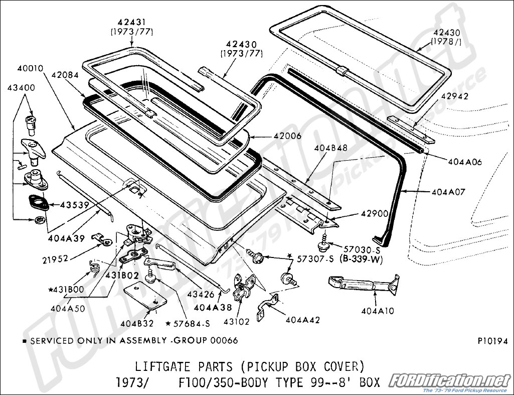hight resolution of liftgate parts pickup box cover 1973 1979 f100 350