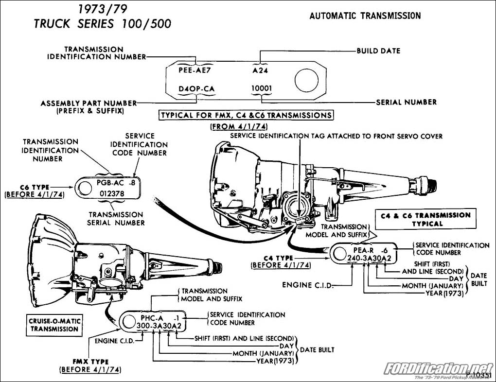 hight resolution of 1973 1979 ford truck van automatic transmission application chart fordification net