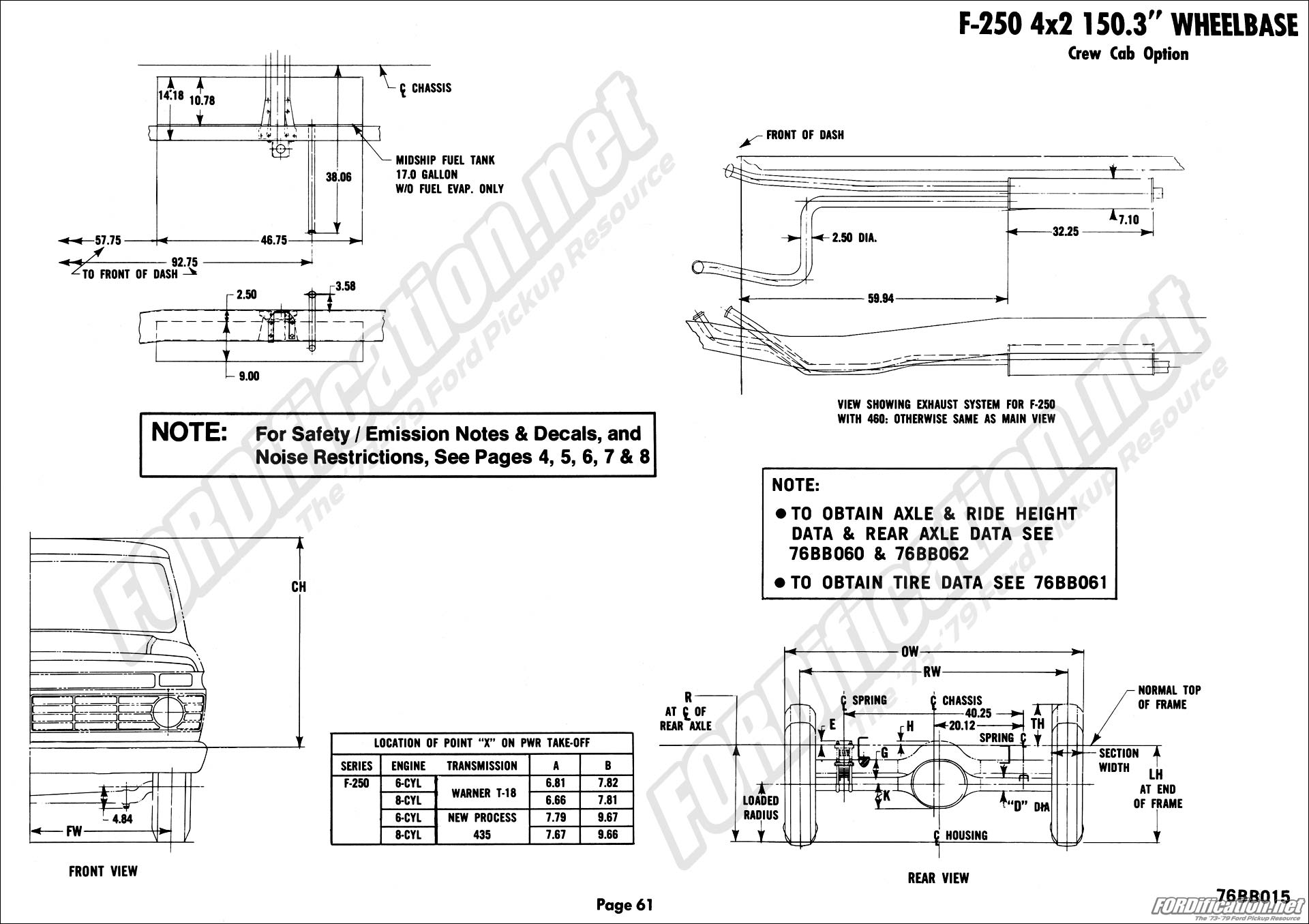 hight resolution of f250 4x2 150 3 w b crew cab option page 01 page 02