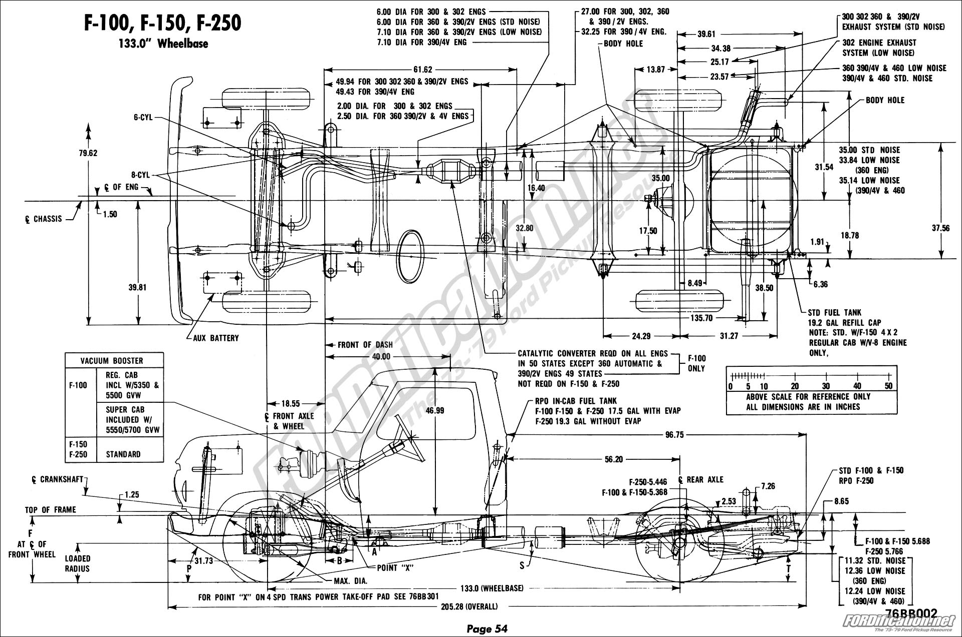 hight resolution of 65 f100 frame diagram simple wiring schema 50 f100 1976 ford body builder s layout book fordification