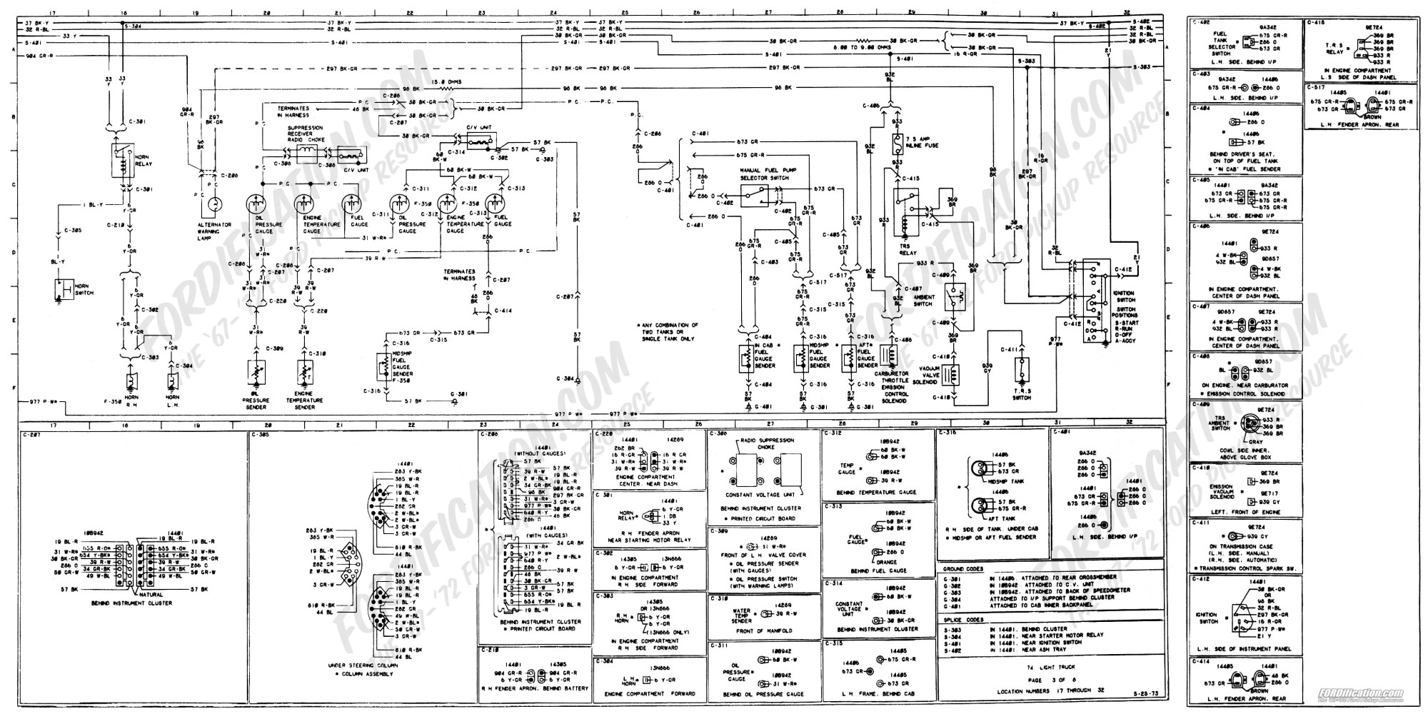 hight resolution of 1973 1979 ford truck wiring diagrams schematics fordification net 2001 ford mustang wiring diagram 1973 ford f250 fuel sender wiring diagram