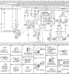 1973 1979 ford truck wiring diagrams schematics fordification net 1975 ford f100 alternator wiring diagram 1975 ford f100 wiring diagram [ 3774 x 1907 Pixel ]