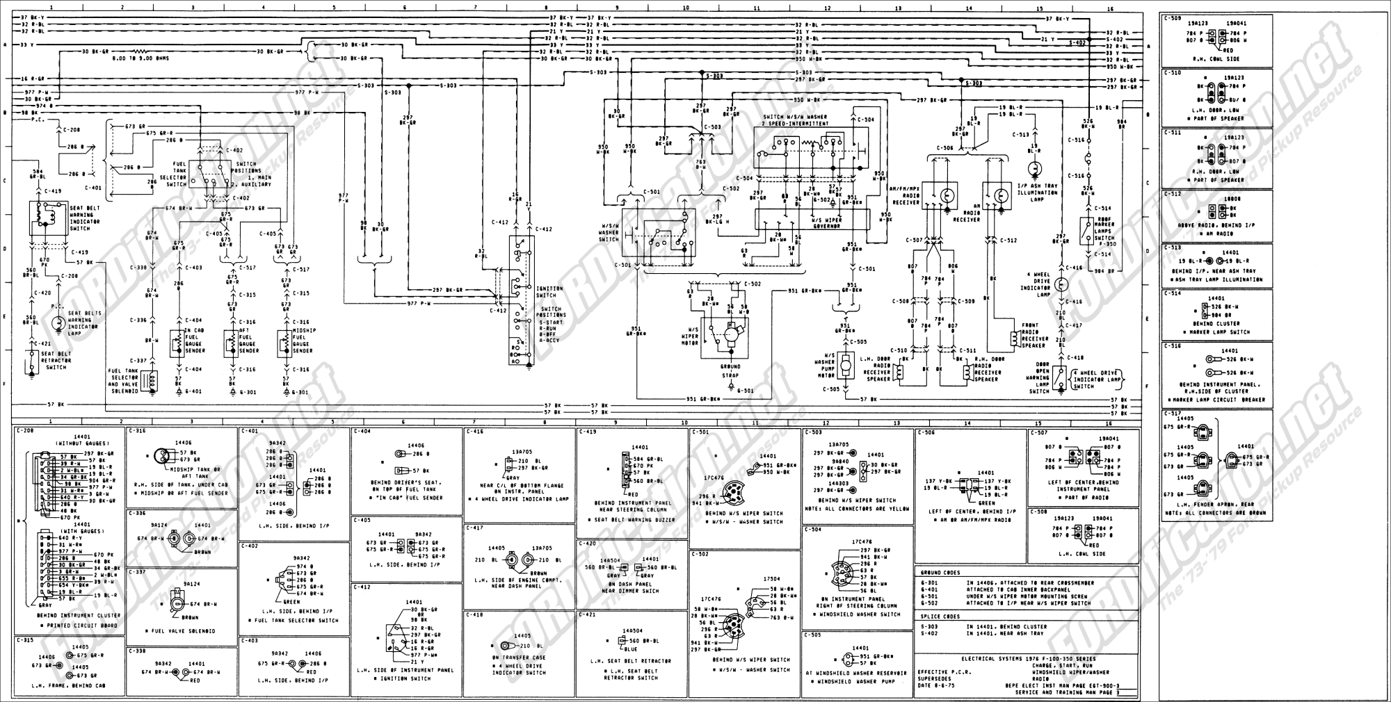 hight resolution of 1973 1979 ford truck wiring diagrams schematics fordification net ford alternator wiring diagram 76 f150 wiring diagram