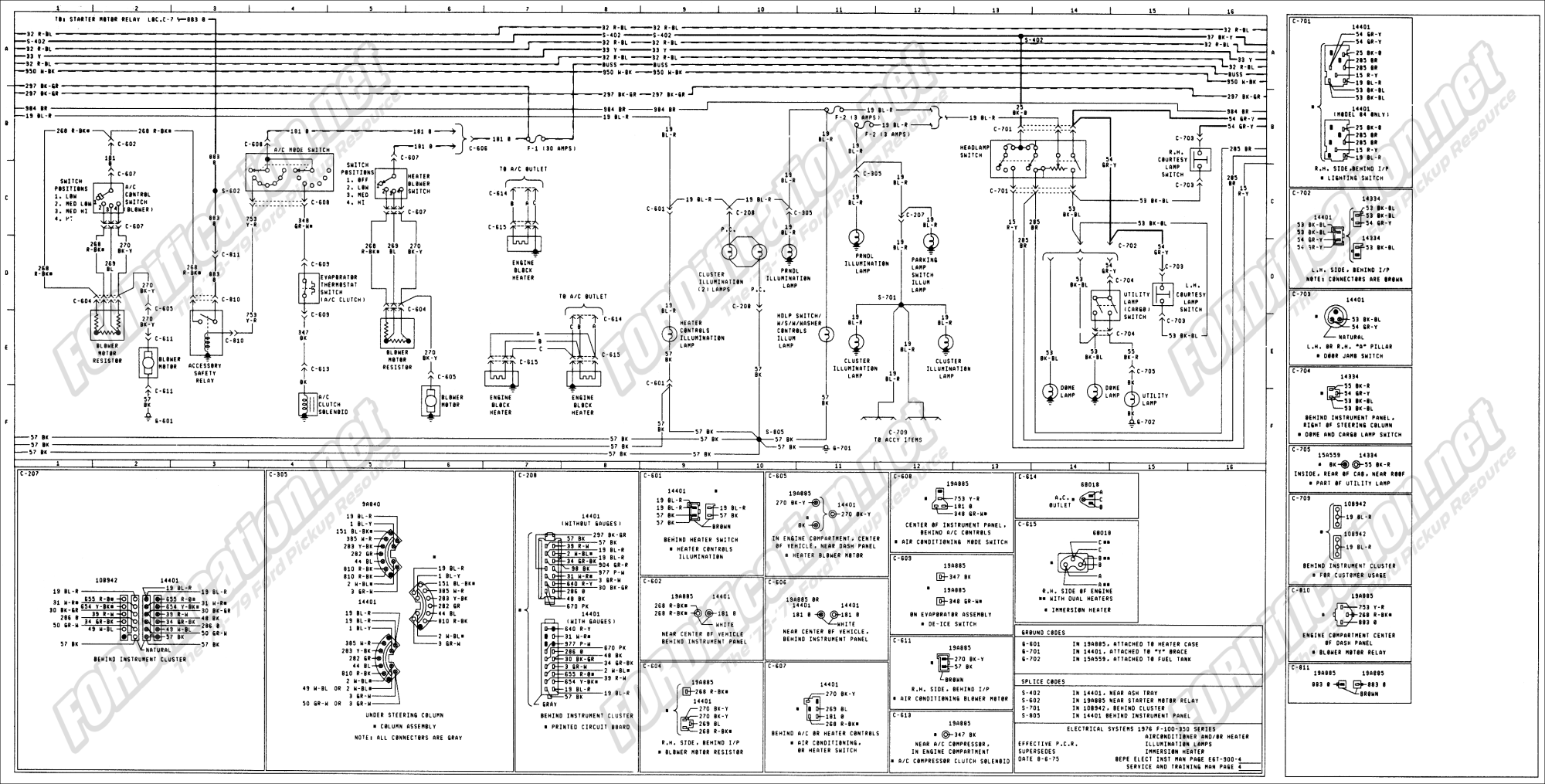 hight resolution of 1973 1979 ford truck wiring diagrams schematics fordification net rh fordification net charging diagram 1979 ford