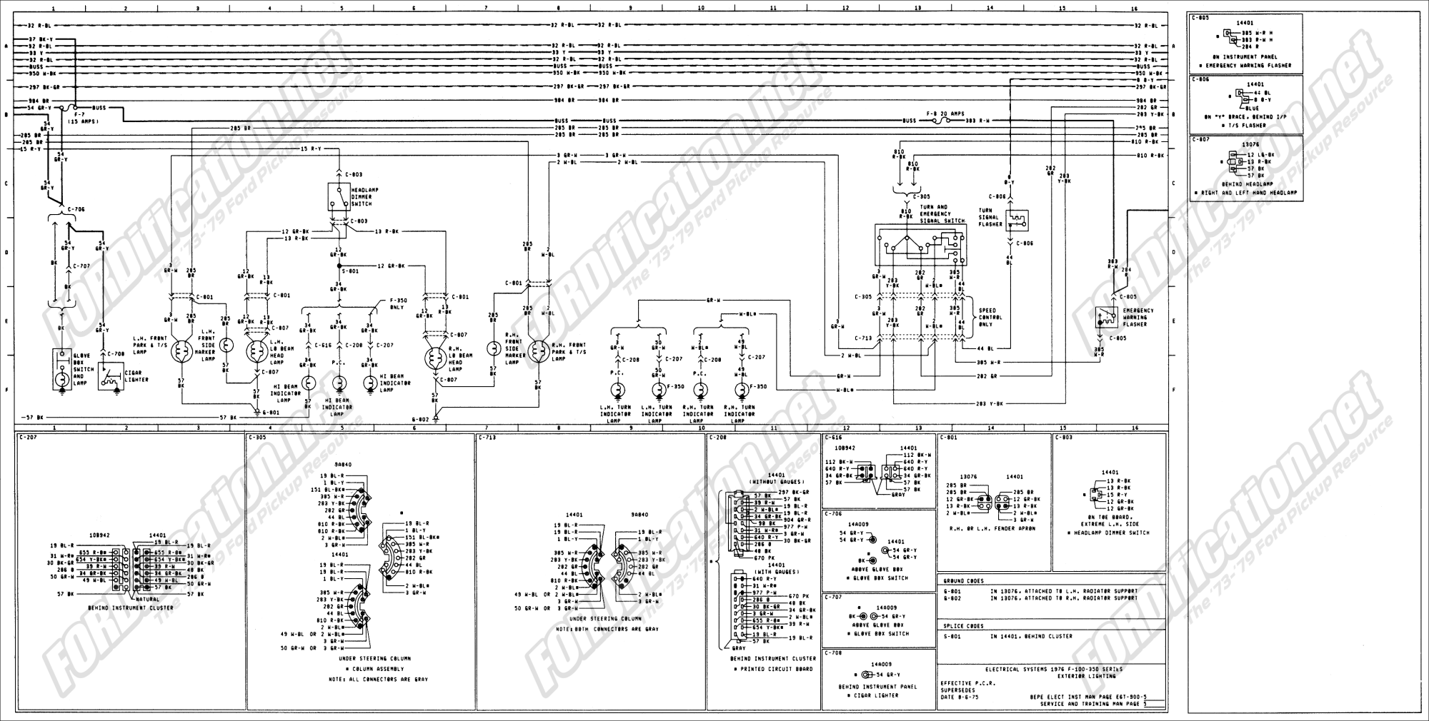 hight resolution of 1973 1979 ford truck wiring diagrams schematics fordification net 1966 ford f100 wiring diagram 1975 ford wiring diagram