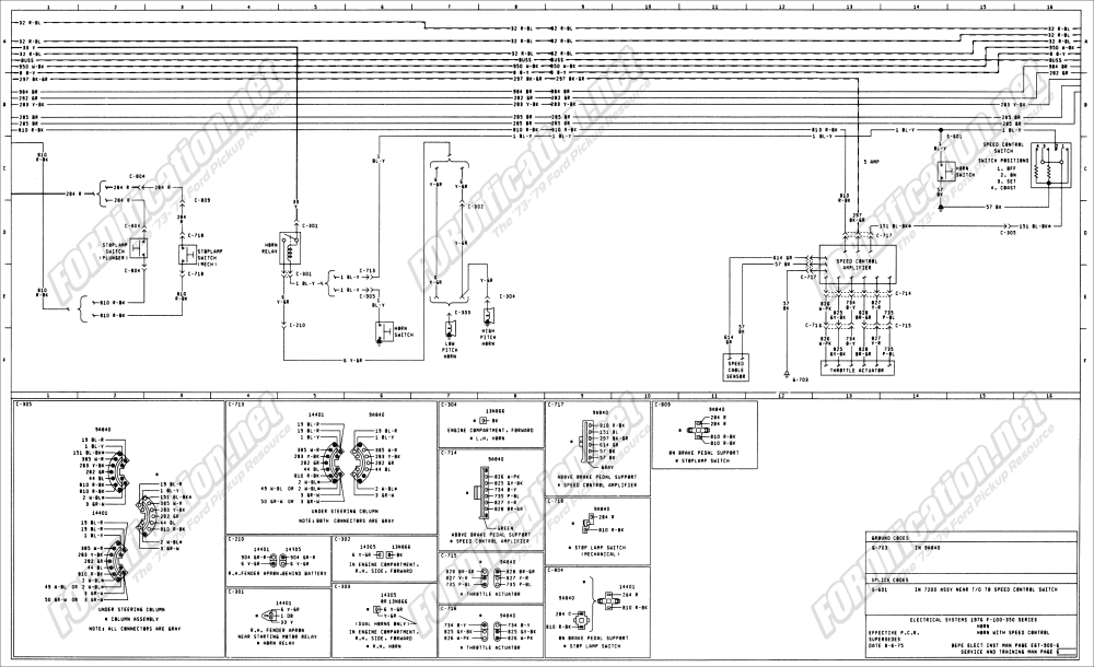 medium resolution of 1973 1979 ford truck wiring diagrams schematics fordification net 1976 ford f250 starter solenoid wiring diagram 1976 ford f250 wiring diagram