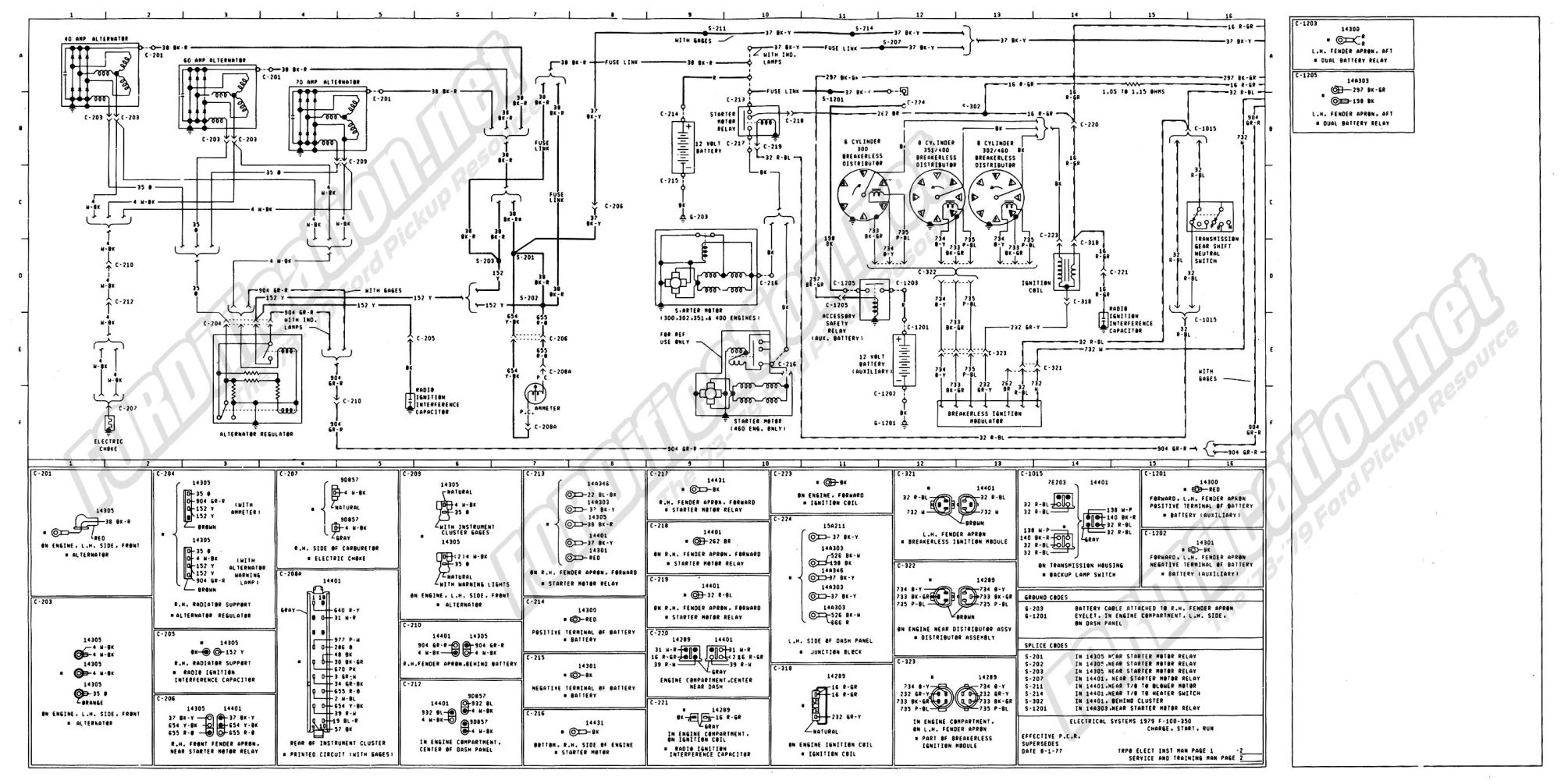 hight resolution of 1973 1979 ford truck wiring diagrams schematics fordification net instrument cluster regulator f150 instrument cluster