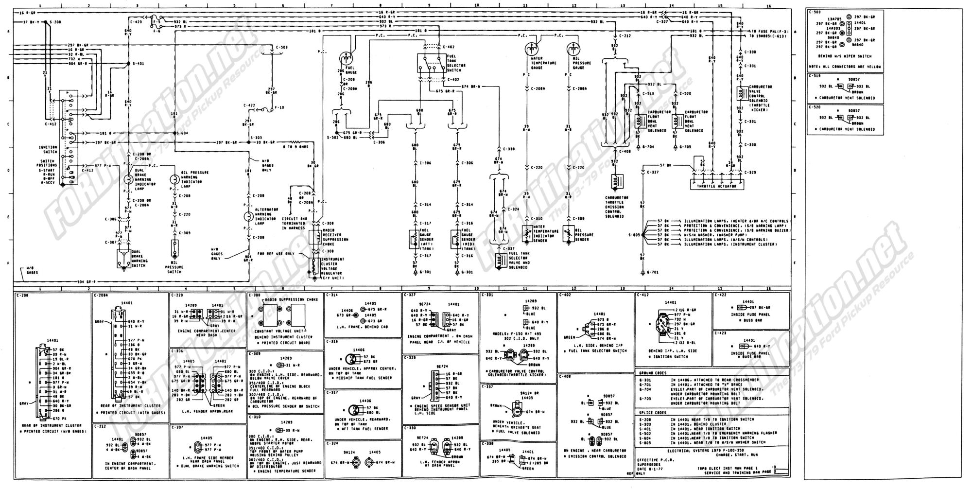 hight resolution of 1973 1979 ford truck wiring diagrams schematics fordification net 77 ford voltage regulator 1973 77