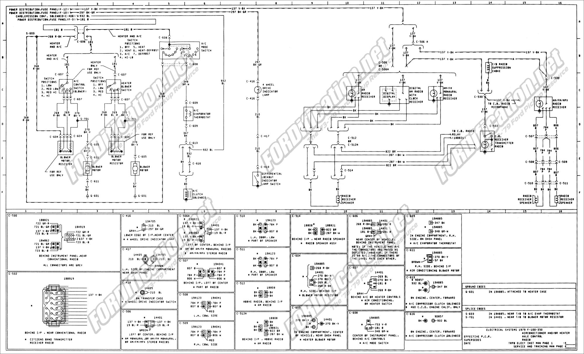 hight resolution of 1973 1979 ford truck wiring diagrams schematics fordification net 97 ford f 250 wiring schematic 79 ford f 250 wiring schematic