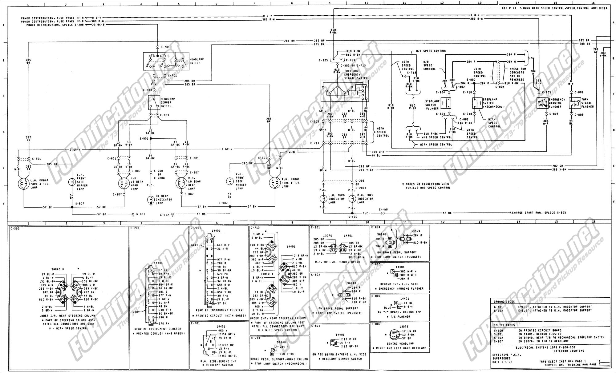 hight resolution of 1973 1979 ford truck wiring diagrams schematics fordification net 1949 ford truck wiring diagram ford