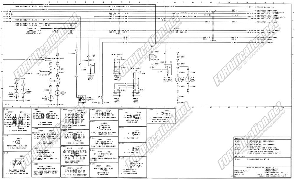 medium resolution of 1973 1979 ford truck wiring diagrams schematics fordification net 2003 ford econoline van fuse box diagram 1979 ford e150 wiring diagram