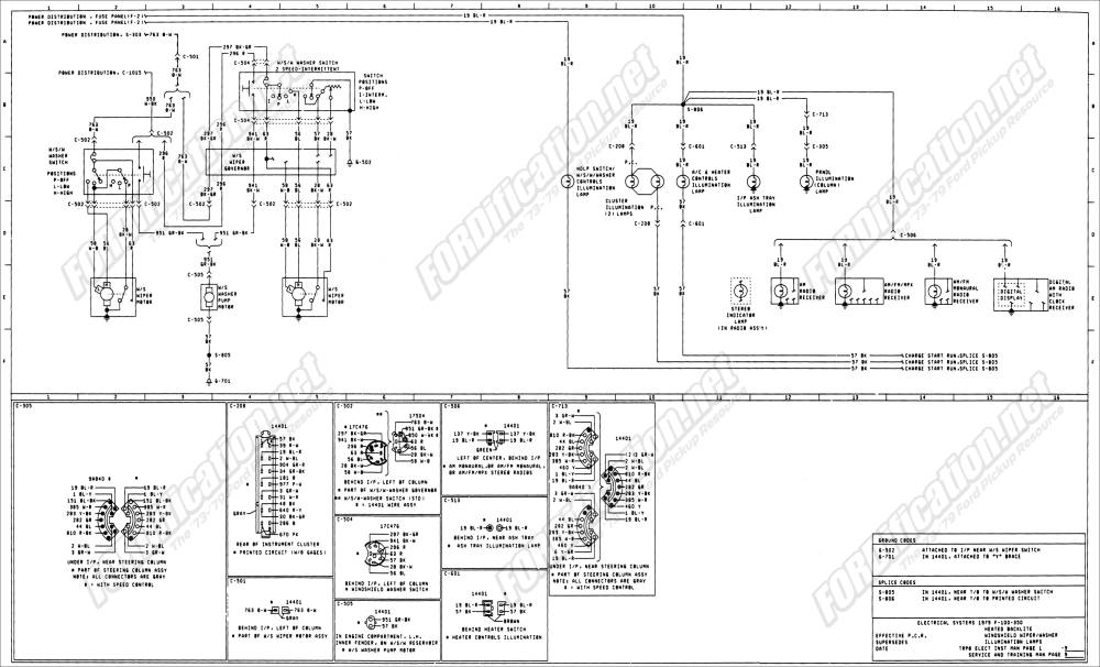 medium resolution of 1973 1979 ford truck wiring diagrams schematics fordification net alternator ford schematic diagrams ford diagrams