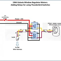 6 Pin Window Switch Wiring Diagram Lima Bean Dissection Power Conversion 1966 Thunderbird Switches In