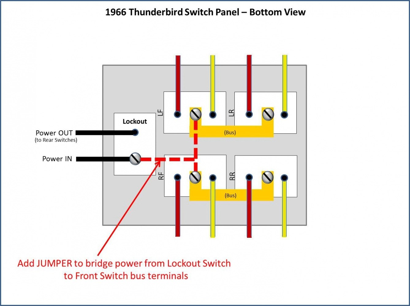 hight resolution of power window conversion 1966 thunderbird switches in 1966 galaxie rh fordmuscleforums com ford f 150