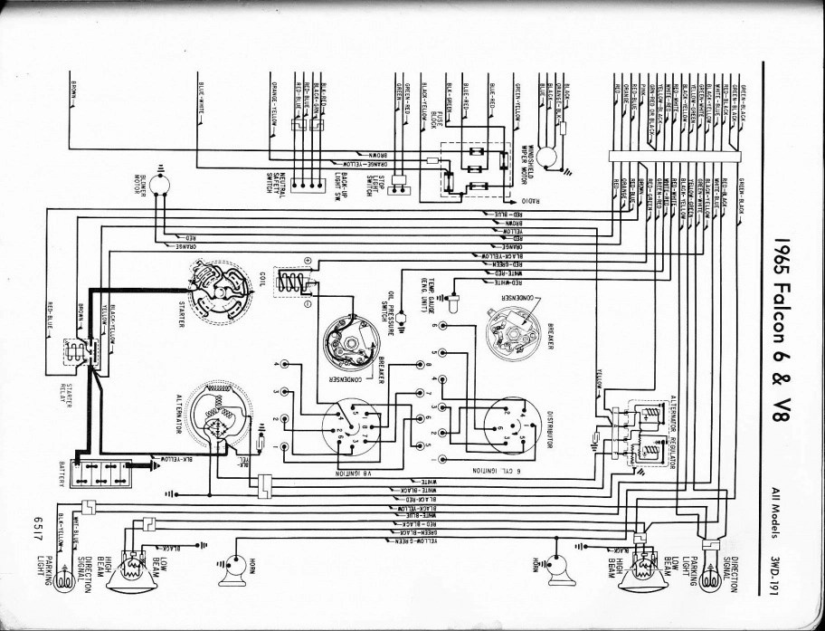 63 Falcon Fuse Box. Schematic Diagram. Electronic