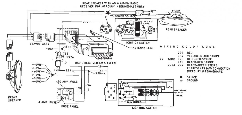 ford f100 radio wiring diagram