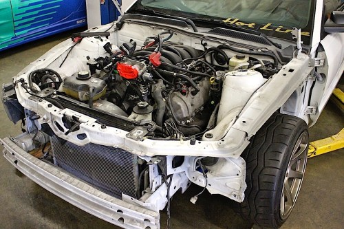small resolution of a 2006 mustang is the foundation for the project pawlak stripped off suspension and front sheetmetal in preparation to remove the stock 4 6 liter 3v engine