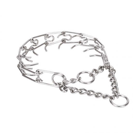 Firm Action Stainless Steel Pinch Collar for Medium Sized