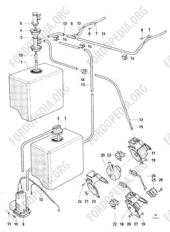 Ford Consul/Granada MkI (1972-1975) parts list: A4.60