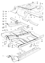 Ford Escort MkI RS/Mexico (1970-1974) parts list