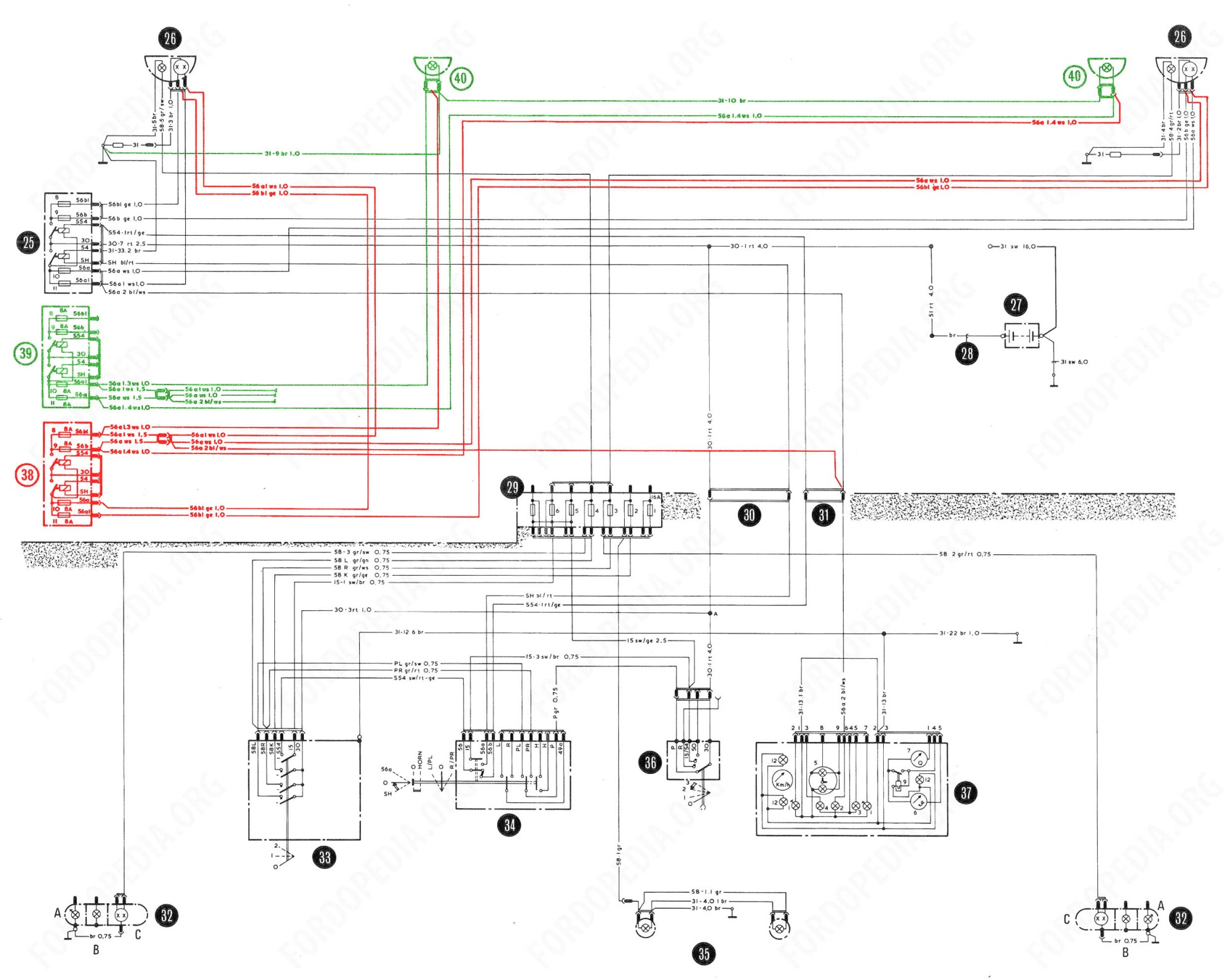 hight resolution of download full size image 2465x1964 548 kb wiring diagrams taunus tc2 cortina mk4 base version l version gl